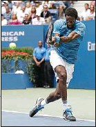 ??  ?? Gaël Monfils a battu Lucas Pouille en quarts de finale de l'US Open.