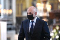 ?? (Stefan Rousseau/Reuters) ?? BRITAIN'S NEW Health Minister, Sajid Javid, seen at a thanksgiving service to celebrate the NHS' birthday, in St Paul's Cathedral in London on Monday.