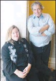 ??  ?? Catherine and Denis Labossiere have thoughtfully rebuilt their Rideau Street condo, creating an outdoor seating area, using found materials, including an iron grate in the hall, refurbishing hardwood floors and creating a sleeping nook that comes with...