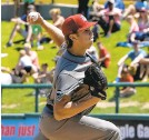 ?? DANIELLE STOUT/ROCHESTER RED WINGS ?? Damon Jones is working through the ups and downs this summer in Triple-A.