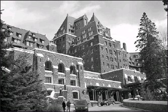 ?? GIANCARLO LA GIORGIA FOR THE OTTAWA CITIZEN ?? Fairmont's Banff Springs Hotel is a 120-year-old Scottish baronial-style building. Even if you can't afford to stay there, you can stroll around the stores or book an appointment at the spa.