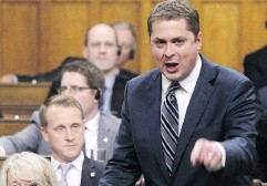 """?? SEAN KILPATRICK /THE CANADIAN PRESS FILES ?? On U.S. tariffs, Conservative Leader Andrew Scheer said """"it's clear that the prime minister has failed."""""""