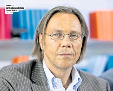 ?? Foto: dpa ?? EXPERTE: Der Sozialpsychologe Harald Welzer.
