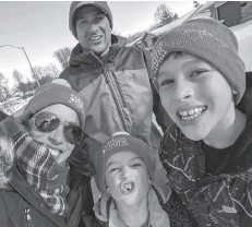 ?? Submitted ?? Monica and Ryan Weber participated in the CNOY with their sons Braydon and Owen.