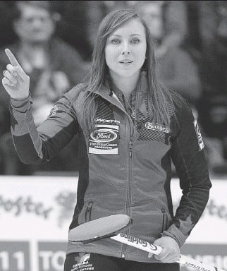 ?? ANDREW VAUGHAN/THE CANADIAN PRESS ?? Ottawa's Rachel Homan is looking to join a select list of women curlers who have skipped their teams to three titles in a row at the Scotties Tournament of Hearts.