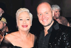 All Smiles Denise Welch And Below With Her Husband Lincoln Townley