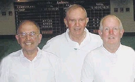 ??  ?? Les Hughes, Billy Hearne and Dennis Hulley qualified for the county champion of champions in this week 11 years ago.