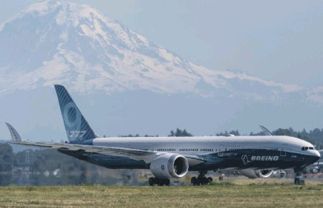 ?? Getty ?? A Boeing 777X jet in Seattle. Emirates ordered at least 126 of the planes from the Chicago aircraft maker