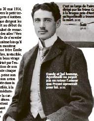 ??  ?? Dandy et bel homme, Agostinelli ne payait pas en retour l'amour que Proust éprouvait pour lui. (© DR)
