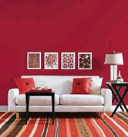 Glidden S Most Por Paint Colors Include Clockwise From Top Red Delicious Clipper Ship Blue And Universal Grey