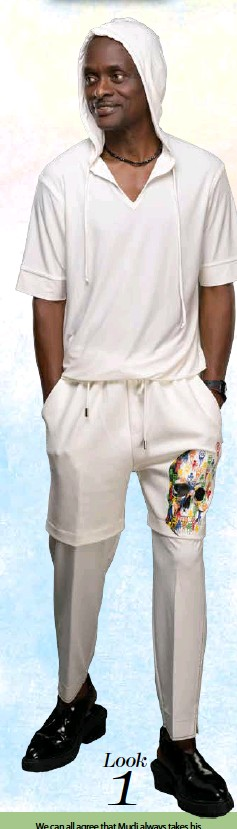 ??  ?? Look 1 We can all agree that Mudi always takes his designs a notch higher making them unique. This loungewear has been given the quirky Mudi spin with the mixture of shorts and trousers all in one. If this outfit doesn't set you apart from the crowd what will?