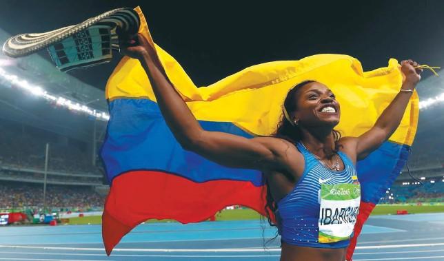 ?? / Getty Images ?? La saltadora antioqueña Caterine Ibargüen será la abanderada de Colombia en la inauguración de los Juegos Olímpicos de Tokio, que comenzarán el 23 de julio.