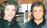 ??  ?? Money shot Tommy with Johnny Cash