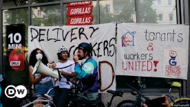 ??  ?? Gorillas workers have listed missing pay, insufficient rain gear and chronic back pain from carrying heavy loads as their top concerns