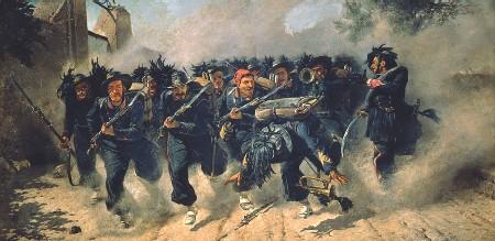 ??  ?? Risorgimento Michele Cammarano, «Carica dei Bersaglieri» (1871): il quadro raffigura la presa di Porta Pia