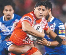 ??  ?? Jason Taumalolo playing for Tonga but still out of Origin.