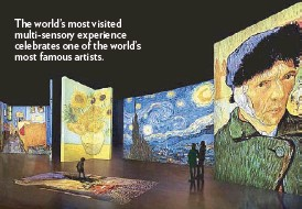 ??  ?? The world's most visited multi-sensory experience celebrates one of the world's most famous artists.