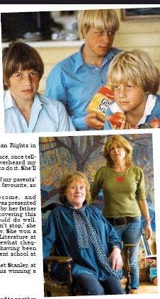 ??  ?? Family supremo: Charlotte and Boris, main image. Top, in the U.S. with (from left) young Leo, Boris, Jo and Rachel in 1979; and with Rachel in 2007