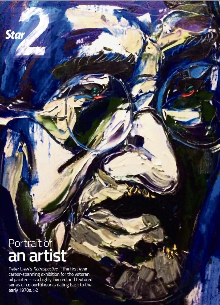 ??  ?? Peter Liew's Mahatma Gandhi (oil on canvas, 2015).