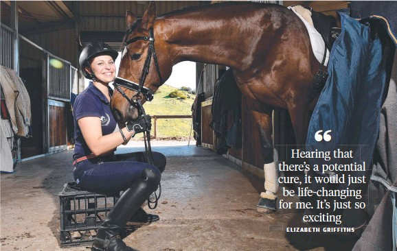 ?? Picture: KERYN STEVENS ?? EXCITING DEVELOPMENT: Adelaide para-equestrian Elizabeth Griffiths, who lives with MS, and her horse, Lizzie.