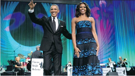 ?? CAROLYN KASTER/THE ASSOCIATED PRESS ?? President Barack Obama and First Lady Michelle Obama host Jazz at the White House on April 30.