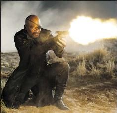 ?? — DISNEY ?? Nick Fury (Samuel L. Jackson) is among a cast of stars adeptly balanced by director Joss Whedon.
