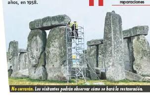 ??  ?? No cerrarán. Los visitantes podrán observar cómo se hará la restauración.