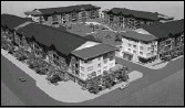 ?? Courtesy, NORR Architects Planners ?? Construction on the 97 units of Copperstone Village in airdrie is expected to start within the next 60 days.