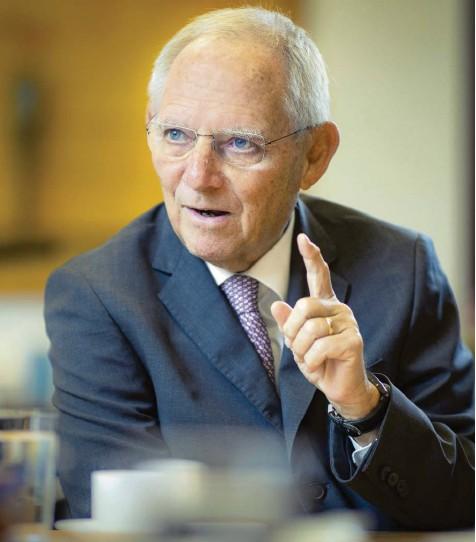 ?? Foto: Imago Images ?? Wolfgang Schäuble ist als gewandter Redner bekannt. Der CDU‰Politiker und Bundestagspräsident macht sich auch darüber Gedanken, wie der politische Diskurs in digitalen Zeiten gelingen kann.