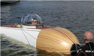 ?? Laurent Theillet ?? Met deze duikboot wordt een jongensdroom werkelijkheid.