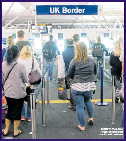 ?? Picture: GIANNI MURATORE/Alamy ?? BENEFIT: Visa-free travel to and from the EU will continue