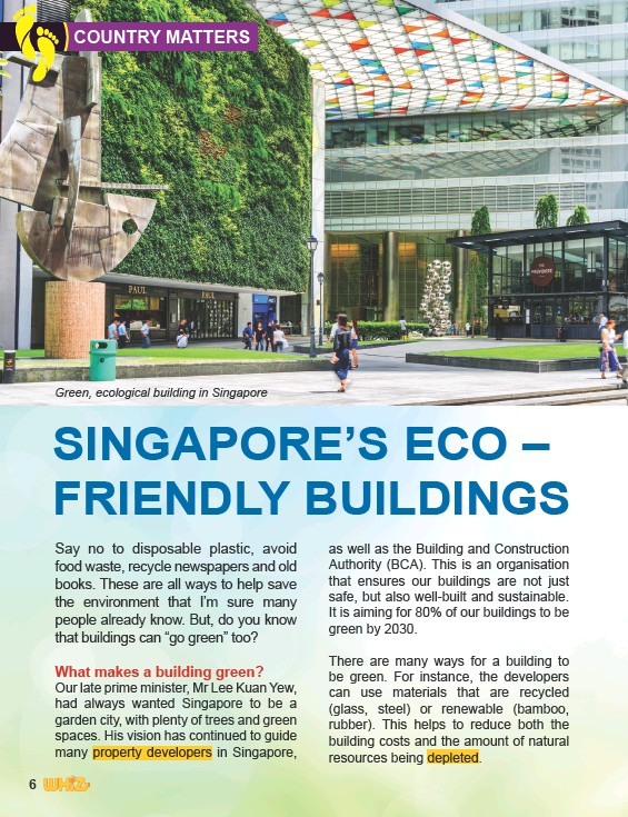 ??  ?? Green, ecological building in Singapore
