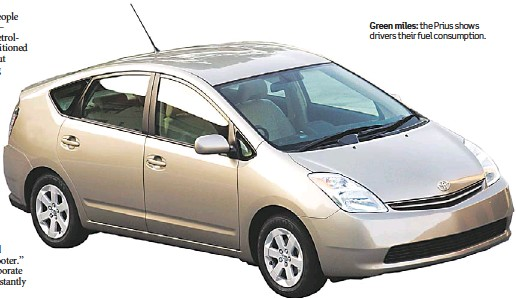 Green Miles The Prius Shows Drivers Their Fuel Consumption