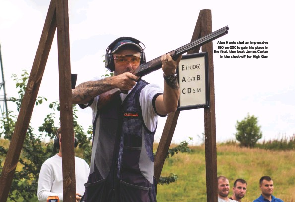 ??  ?? Alan Harris shot an impressive 190 ex-200 to gain his place in the final, then beat James Carter in the shoot-off for High Gun