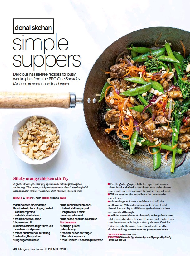 Pressreader Bbc Good Food 2018 08 23 Sticky Orange Chicken Stir Fry