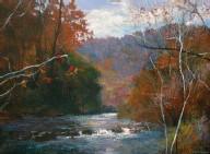 "??  ?? William Jameson, Late Summer on the Nantahala River, oil on canvas, 46 x 46"" 12. Lucy KH Kalian, oil on linen, 18 x 24"""