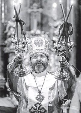 ?? Se konala v pražské katedrále svatého Víta kterou v neděli koncelebroval Svjatoslav Ševčuk, FOTO MAFRA – JAN ZÁTORSKÝ ??