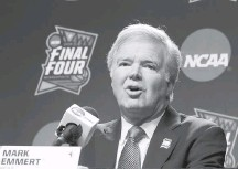 ?? MATT YORK/ASSOCIATED PRESS ?? NCAA President Mark Emmert's office said the Board of Governors has not taken the issue of a woman's right to choose under review.