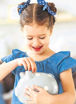 ??  ?? There are various ways you could get your children off on a good financial footing this year