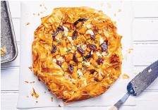 ?? SCOTT SUCHMAN/FOR THE WASHINGTON POST ?? Phyllo galette with butternut squash, feta and olives is a great way to jump onto the phyllo bandwagon.