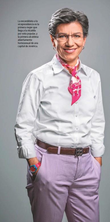 ??  ?? La excandidata a la vicepresidencia es la primera mujer que llega a la Alcaldía por voto popular, y la primera alcaldesa abiertamente homosexual de una capital de América.