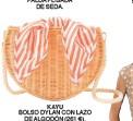 ??  ?? BOLSO DYLAN CON LAZO DE ALGODÓN (261 €). KAYU