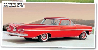 ??  ?? 'Bat wing' tail-lights distinguished the '59.
