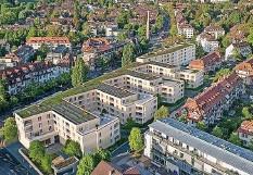 ?? Foto: WBG Acht ?? So soll die Siedlung Burgernziel Ende 2022 aussehen.