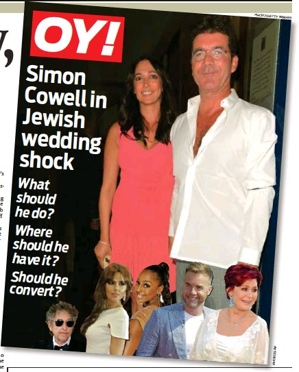 Pressreader The Jewish Chronicle 2013 11 01 Simon Cowell We Ve Planned Your Wedding