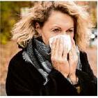 ?? Foto: dpa ?? Dank der AHA-Regel gibt es weniger Erkältungen.