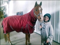 ?? SUBMITTED PHOTO MEGAN WEBB SUBMITTED PHOTO SCOTT RAIBLE ?? Doing a Home Depot Kids' Workshop. Just horsin' around.