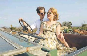 """?? David Bloomer, Bleeker Street-Participant Media ?? Andrew Garfield and Claire Foy star as Robin and Diana Cavendish in """"Breathe."""""""