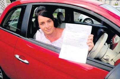 ??  ?? Lengthy trip Charlene Mclaren had to go to Blackpool to sit her driving theory test