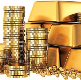 ?? © Depositphotos ?? De l'or en barres, en lingots et en pièces.